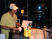 Steve Dale and his Northern Blue-Tongue Skink Cosette on WGN Radio