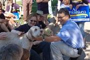Senator Al Franken and dog