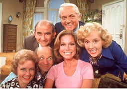 "Betty with cast of ""The Mary Tyler Moore Show"""