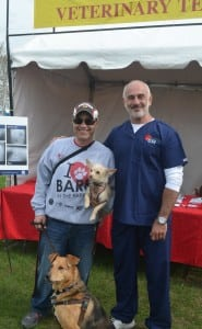 With Dr. Jerry Klein of Med Vet Chicago.