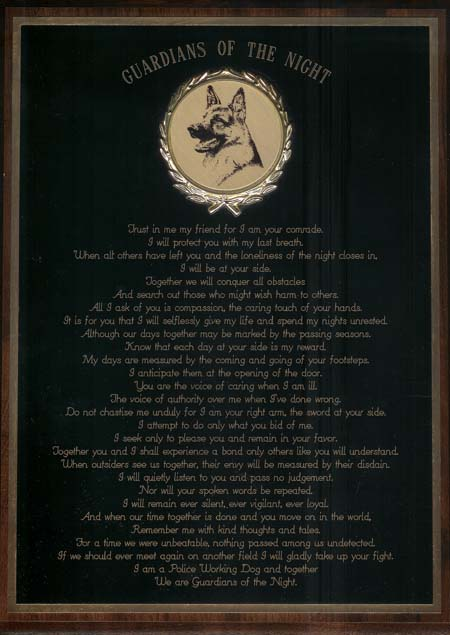 When Servus passed away, Christensen send this plaque to me which I still treasure