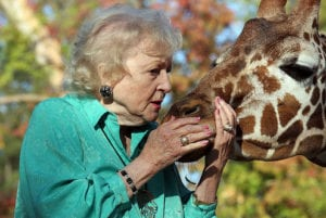 Pet expert Steve Dale chats with animal advocate Betty White
