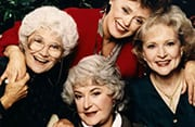 """Betty with cast of """"The Golden Girls"""""""