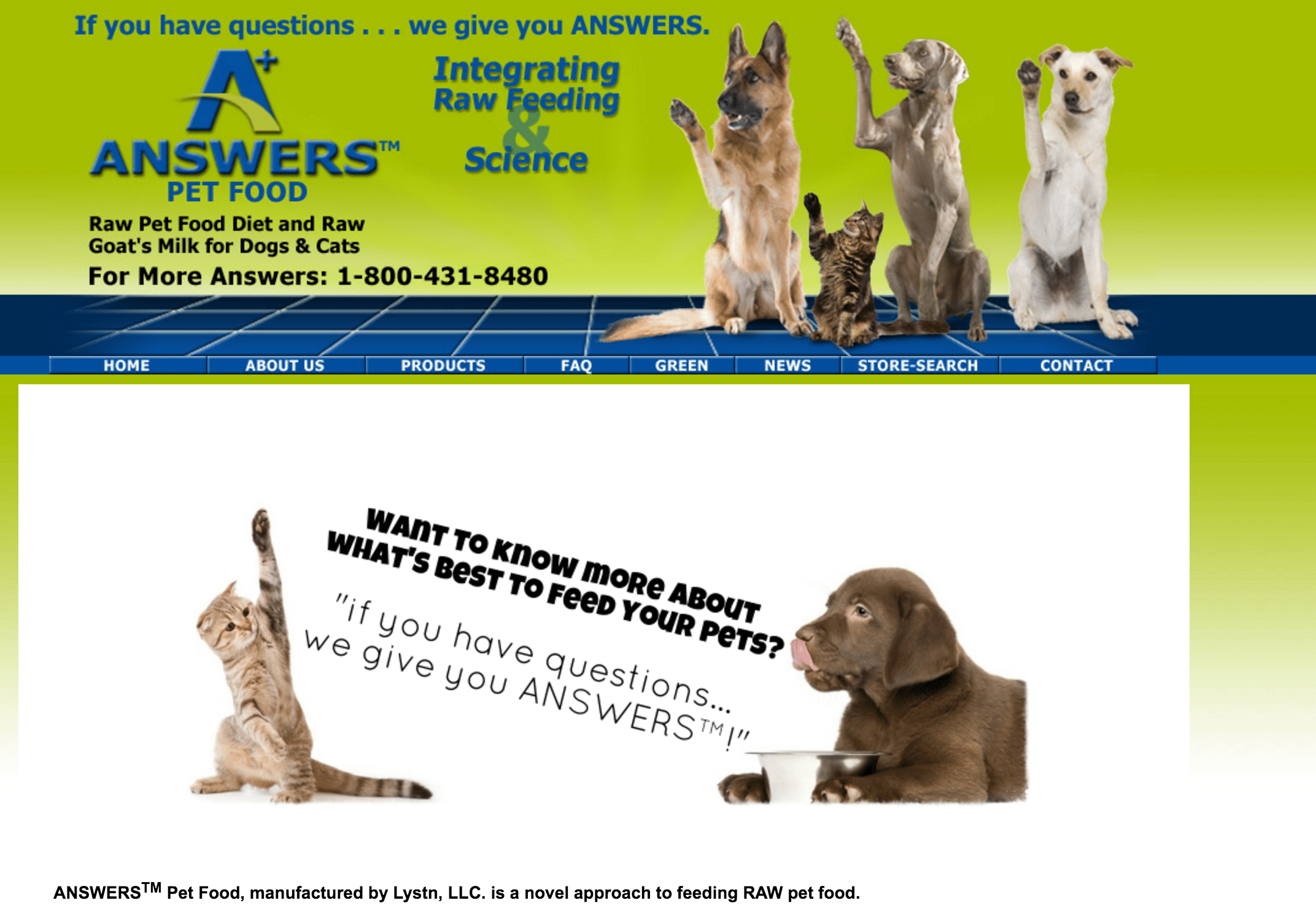 Answers Detailed Dog Food