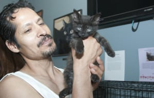 Of course, real men also love cats. TNR caretakers are not all crazy cat ladies