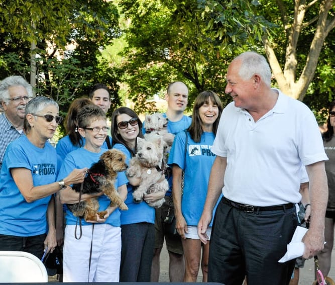Governor Pat Quinn worked to protect pets, and with the Puppy Mill Project