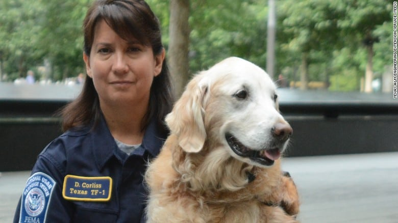 The last 9-11 Search and Rescue Dog passes away and with dignity, and a hero's send off