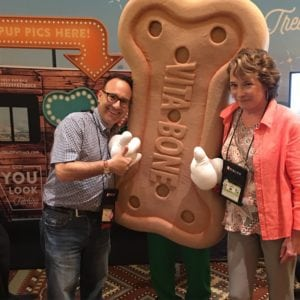 With Dr. Elizabeth Colleran and a bone