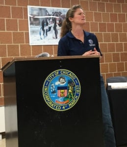 Executive Director Susan Russell explained how it goes in the real world at Chicago Animal Care & Control