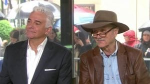 Both J. Peterman's - O'Hurley (l) and the real deal