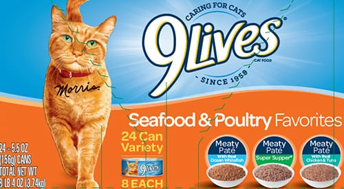 Cat food recall of 9Lives and several brands