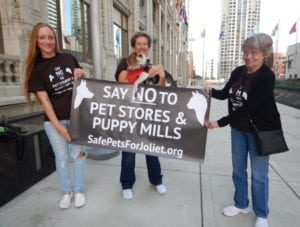 Among organizations opposed - aside from me - HSUS, Best Friends, Puppy Mill Project, Veterinary Professionals Against Puppy Mills, National Association of Veterinary Technicians in America