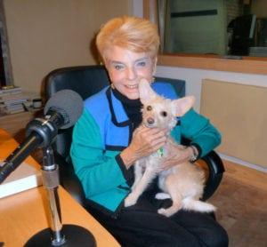 Late Judy Baar Topinka loved our dog, Hazel.And visa versa