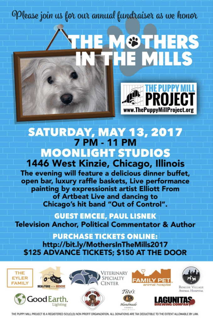 Puppy Mill Project benefit Mothers in the Mills