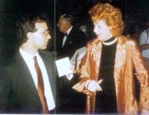 with Lucille Ball