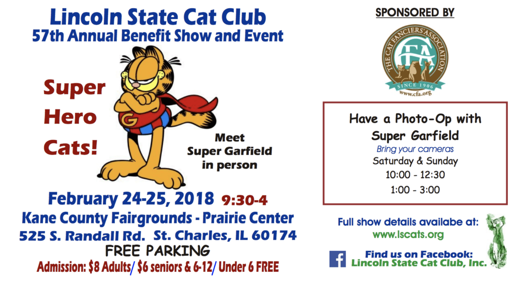 Superstars and Superheroes at the Lincoln State Cat Show