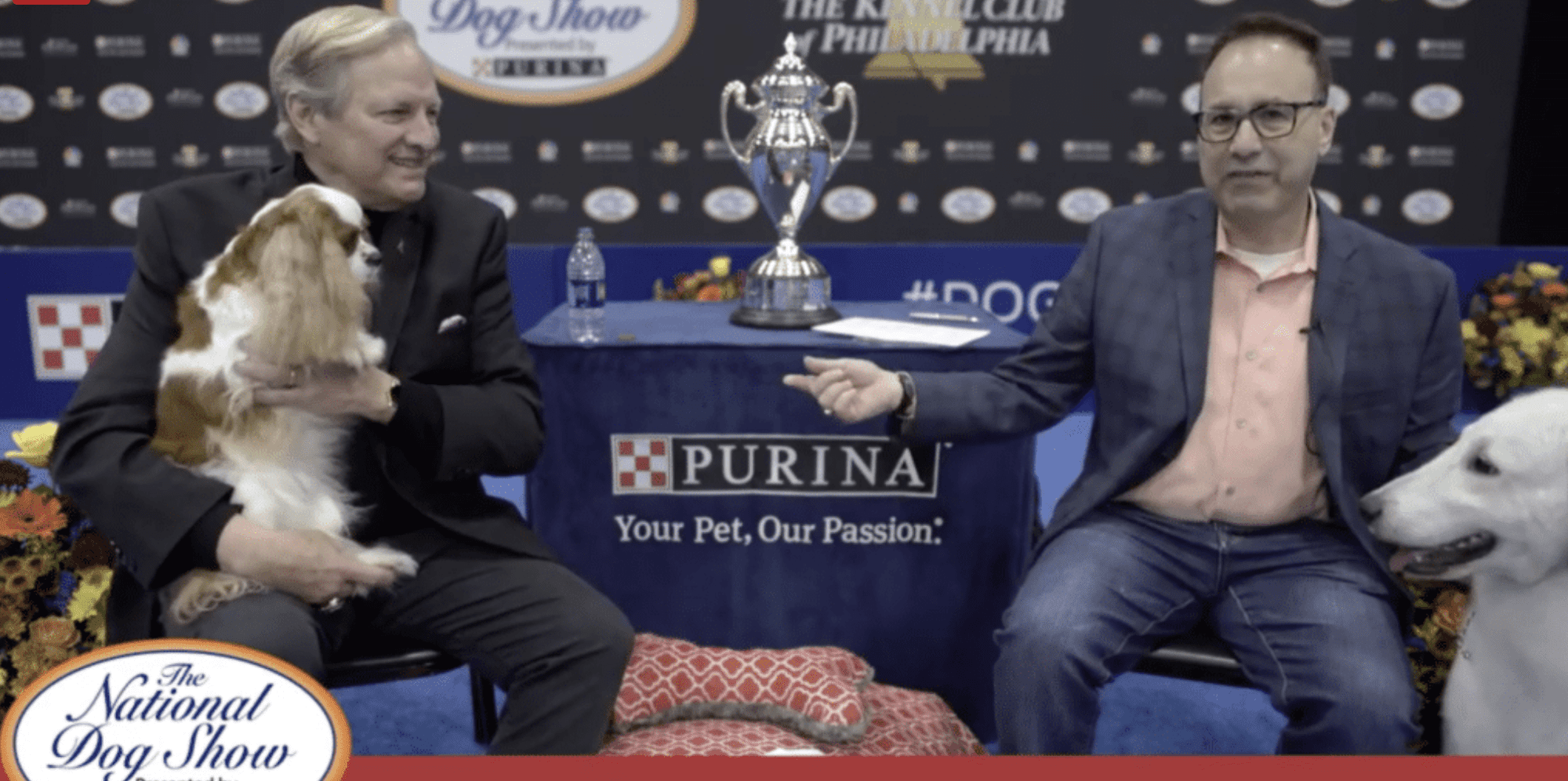 David Frei and Steve Dale from the National Dog Show Presented by Purina