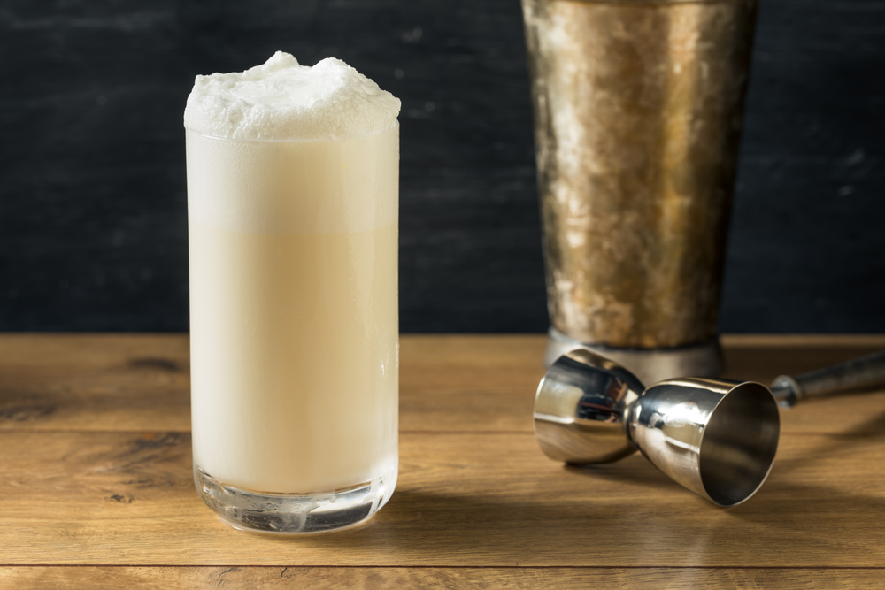 Homemade,Frothy,Ramos,Gin,Fizz,Cocktail,With,Cream